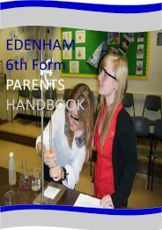 parent handbook - Edenham High School