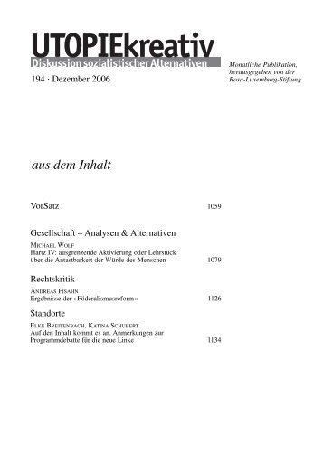 utopie 194-D.qxd - Rosa-Luxemburg-Stiftung