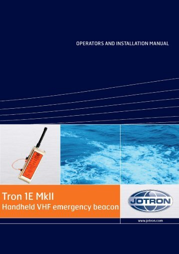 Users Manual Tron 1E MkI.pdf - Jotron