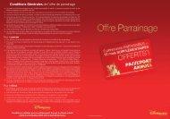 Conditions Générales de l'offre de parrainage - Disneyland® Paris