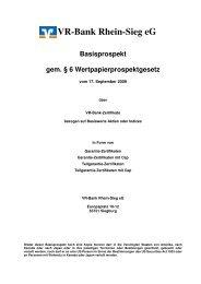 Basisprospekt Garantie 17.09.2009, Billigungsversion