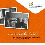 Villa Rosenthal – Vermächtnis der Vergangenheit und ... - jenawohnen