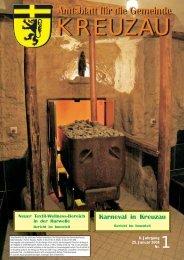Amtsblatt Nr. 01/2008 vom 25.01.2008 - Gemeinde Kreuzau
