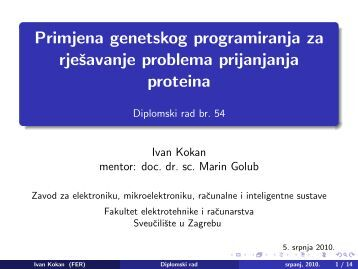 Prezentacija [PDF] - Zemris - FER