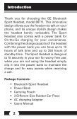 Sport Headset - Jasco Products - Page 2