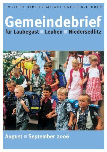 Gemeindebrief August/September 2006 - Ev.-Luth. Kirchgemeinde ...