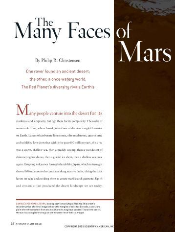 The Many Faces of Mars - Scientific American Digital