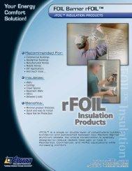 Covertech R-Foil Product Data Sheet - Brock White
