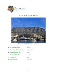 CAPE TOWN 2013 TOURS - The Africa Adventure Company