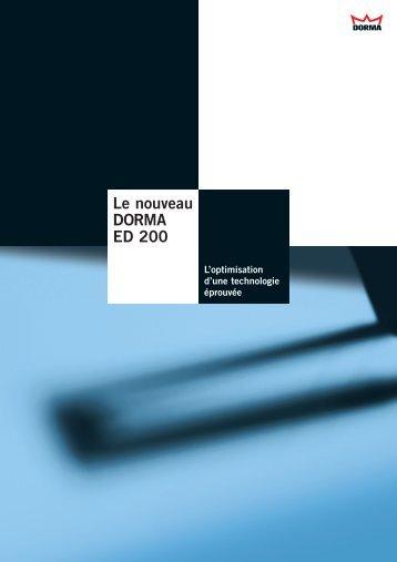 Le nouveau DORMA ED 200 - LTM