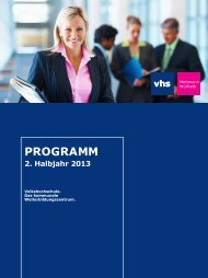 PROGRAMM - Volkshochschule Mettmann-Wülfrath