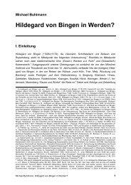 Hildegard von Bingen in Werden? - michael-buhlmann.de