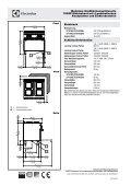 700XP Elektroherd mit 4 quadratischen Kochplatten und - Electrolux - Seite 2