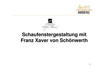 Beispiele Schönwerth - Stadtmarketing Amberg
