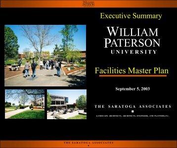 Facilities Master Plan Presentation - William Paterson University