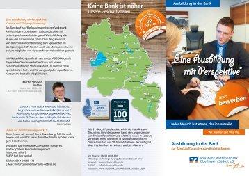 Flyer Ausbildung in der Volksbank Raiffeisenbank Oberbayern ...