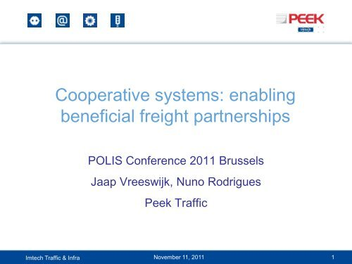 Cooperative systems: enabling beneficial freight partnerships