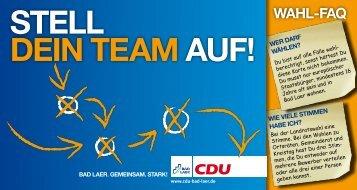 Stell dein team auf! Wahl-faq - CDU Bad Laer