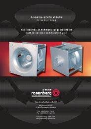 EC-RADIALVENTILATOREN mit integrierter ... - Rosenberg
