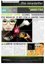 ...the newsletter - Wilkinsons ...the OPTICIANS