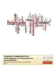 FINANSIEL KOMMUNIKATION - Dansk Kommunikationsforening