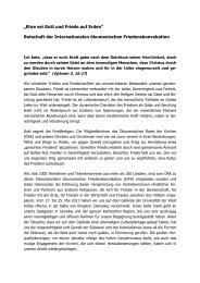 Abschlussdokument - Justitia et Pax