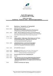 Unterlagen zur Tagung FAGE - Spitex Verband Kt. St. Gallen