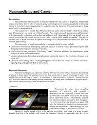Nanomedicine and Cancer - Tahan.com