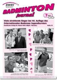 7/2011 - Baden - Württembergischer  Badminton - Verband