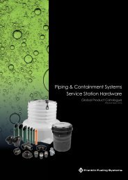 Piping & Containment Systems Service Station Hardware - Franklin ...
