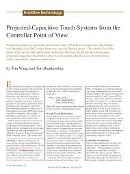 Projected-Capacitive Touch Systems from the Controller Point of View
