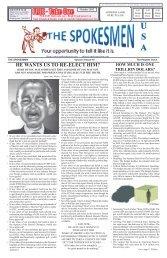 Spokesmen Volume 4 Issue 10.indd - Spokesmen USA