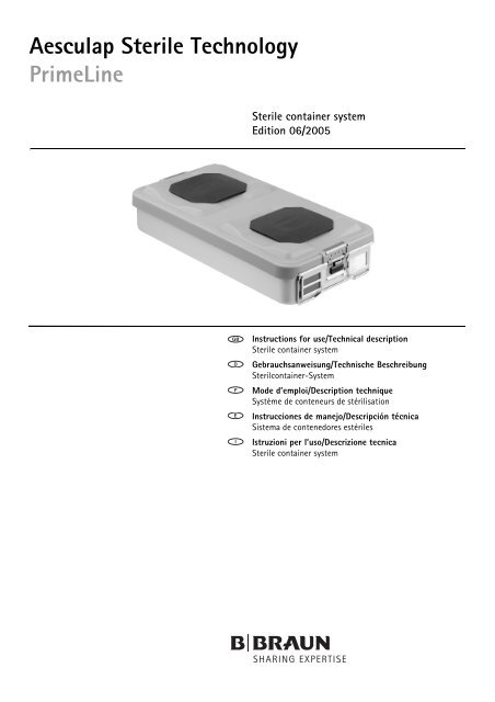 Aesculap Sterile Technology Primeline