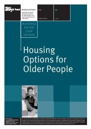 Housing Options for Older People Derek Wanless ... - The King's Fund