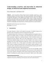 Understanding Creativity and Innovation in Industrial Design