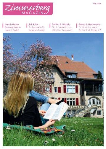 Ausgabe Mai 2013 - Zimmerberg-Magazin