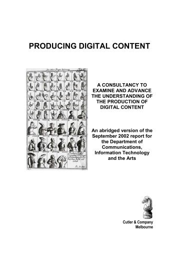PRODUCING DIGITAL CONTENT A CONSULTANCY TO ... - UNESCO