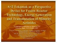 A=2 Tokamak as a Perspective Device for Fusion Reactor ... - SUNIST
