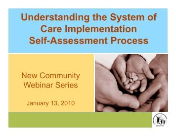 Understanding the System of Care Implementation Self-Assessment ...