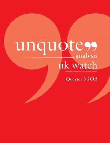 Quarter 3 2012 - Unquote