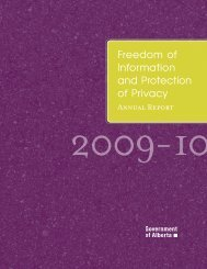 Freedom of Information and Protection of Privacy - Service Alberta