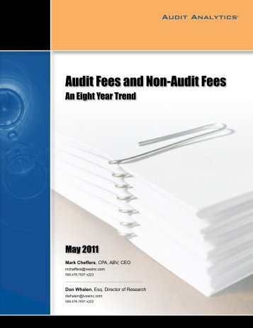 Audit Fees and Non-Audit Fees - Compliance Week