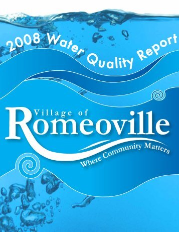 2008 Water Quality Report - Village of Romeoville