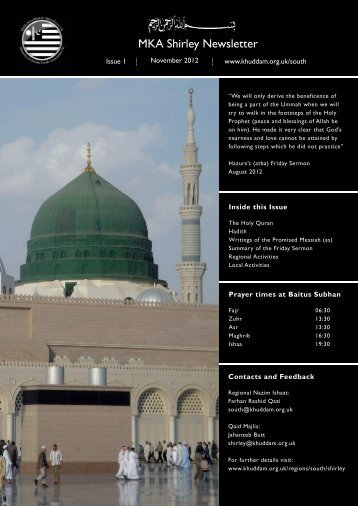 newsletter Shirley.indd - Majlis Khuddamul Ahmadiyya UK Majlis ...
