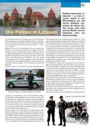 Die Polizei in Litauen