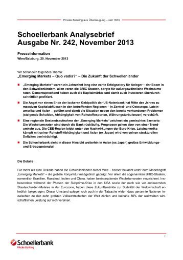 Schoellerbank Analysebrief Nr. 242 (pdf, 151 KByte)