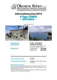 Informationsreise 2014 6 Tage TÜRKEI - Ökumene Reisen