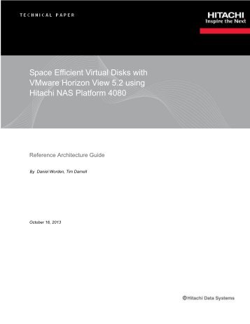 Space Efficient Virtual Disks with VMware Horizon View 5.2 using ...