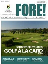 Fore Ausgabe April 2013.pdf - Golfclub Gut Murstätten