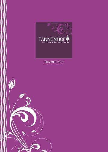 SOMMER 2013 - Hotel Tannenhof
